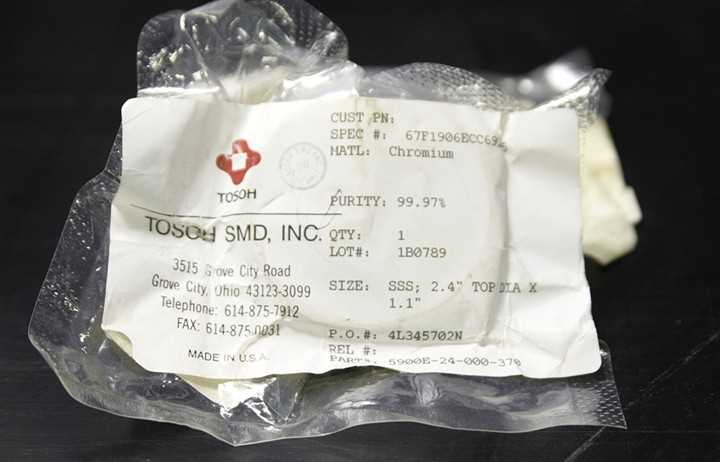 Tosoh SMD Inc Chromium Metal - 1