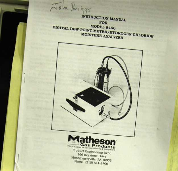 Matheson Dew Point Analyzer 8460 - 3