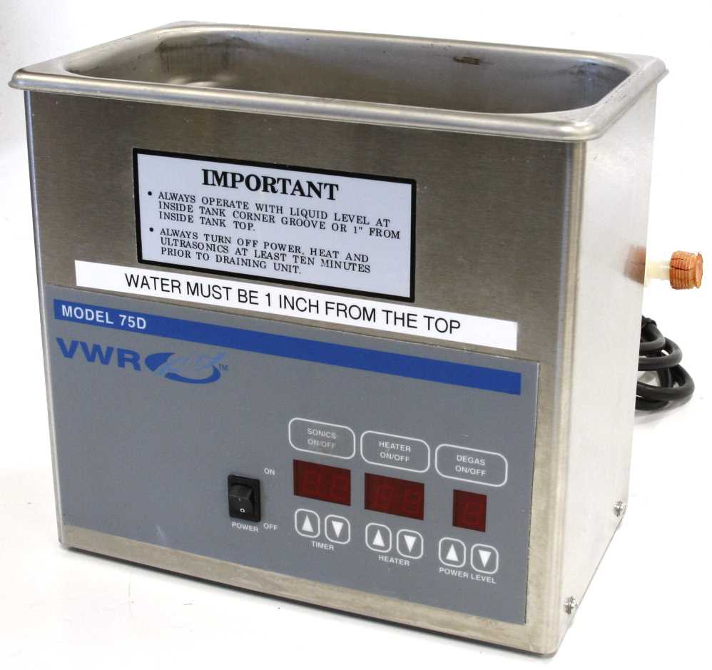 VWR Ultrasonic Cleaner Model 75D