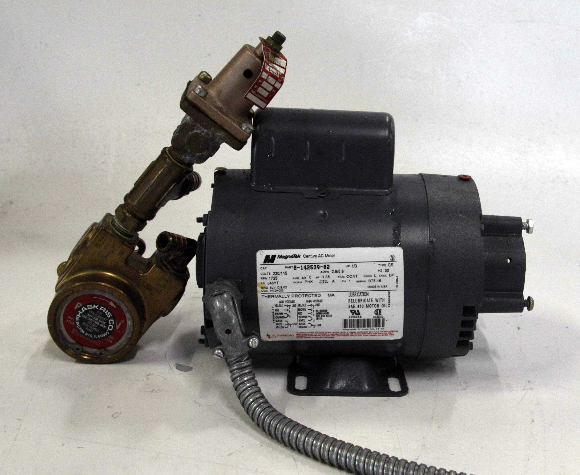 Haskris Motor and Procon pump